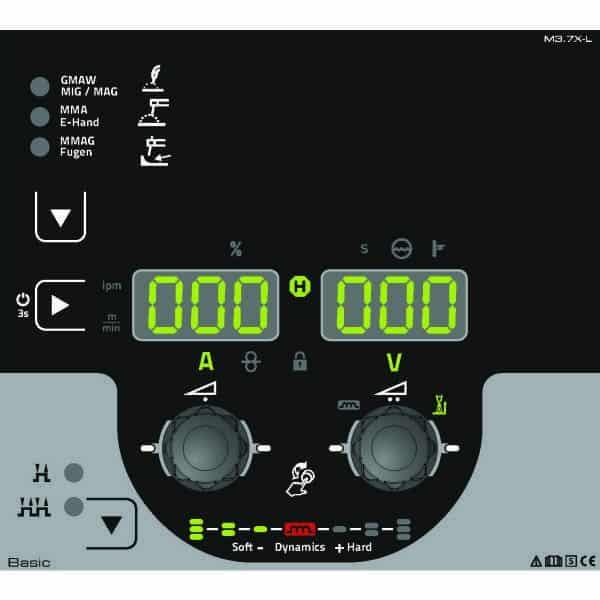 74/5000 Invertorový zvárací prístroj MIG / MAG s ručným nastavením pracovného bodu EWM Taurus 505 Basic S 090-005601-00502