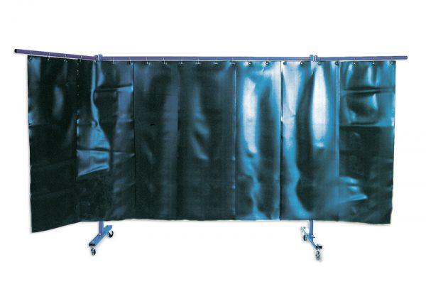 KEMPER 3-dielna ochranná stena s lamelovými zástenami